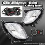 JDM Sport Clear Foglights 2010 - 2012 Genesis Coupe