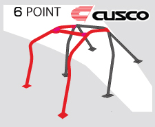 Cusco Safety 21 Black Steel 6 Point Roll Cage Genesis Coupe
