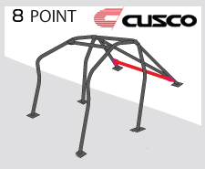 Cusco Safety 21 Black Steel 8 Point Roll Cage Genesis Coupe