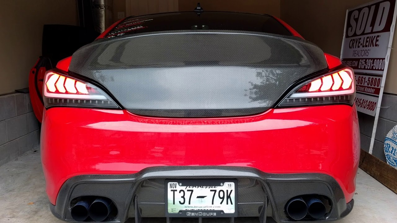 Spec D Tuning Led Tail Lights Genesis Coupe 2010 2016