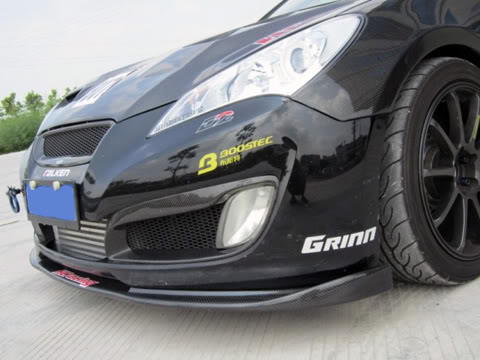Hyundai Genesis Coupe Abs Dynamic Carbon Fiber Front Lip