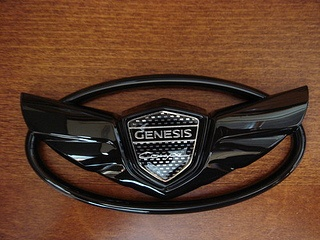 The Art of Speed Genesis Coupe Wing Emblem Set - Gloss Black